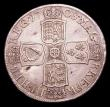 London Coins : A154 : Lot 2136 : Halfcrown 1708 SEPTIMO ESC 577 NEF with some light haymarking
