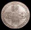 London Coins : A154 : Lot 2146 : Halfcrown 1746 LIMA ESC 606 NEF with some adjustment lines on the obverse and signs of light smoothi...