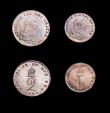 London Coins : A154 : Lot 2328 : Maundy Set 1792 Wire Money ESC 2419 comprising Fourpence EF, Threepence GEF, Twopence A/UNC, and Pen...