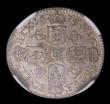 London Coins : A154 : Lot 2663 : Sixpence 1675 5 over 4 ESC 1514 NGC MS63 the reverse particularly attractive with an underlying gold...