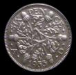 London Coins : A154 : Lot 2761 : Sixpence 1933 ESC 1822 Choice UNC attractively toned, slabbed and graded CGS 85, the joint finest kn...