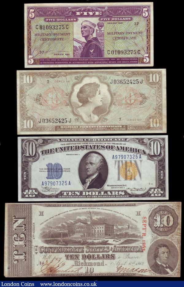 Usa 4 Ten Dollars 1934 Issue With Yellow Seal Ef Military Payment