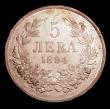 London Coins : A154 : Lot 750 : Bulgaria 5 Leva 1894KБ KM#18 EF/GEF and lustrous with some contact marks
