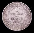 London Coins : A154 : Lot 819 : India Quarter Rupee 1887B KM#490 NEF