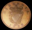 London Coins : A154 : Lot 837 : Ireland Penny 1822 Copper Proof S.6623 UNC and attractively toned, slabbed and graded CGS 82