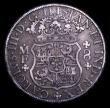 London Coins : A154 : Lot 870 : Mexico 8 Reales 1769 MF KM#105 GF with an old scratch on the reverse, comes with two old tickets