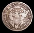 London Coins : A154 : Lot 978 : USA Quarter Dollar 1806 6 over 5 Breen 3886 with missing feet on I and T of LIBERTY, NVG Rare