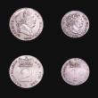 London Coins : A155 : Lot 1093 : Maundy Set 1818 ESC 2423 GEF, the Fourpence with some slight toning areas