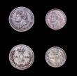 London Coins : A155 : Lot 1098 : Maundy Set 1830 ESC 2435 VF to EF with an attractive matching tone, the Fourpence and Penny with sma...