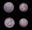 London Coins : A155 : Lot 1117 : Maundy Set 1869 ESC 2481 Fourpence VF with a thin scratch on the reverse, others GEF to A/UNC all wi...
