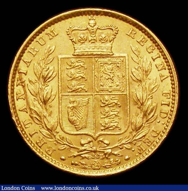 Sovereign 1868 Marsh 52 Die Number 22 GVF with a tone line on the reverse : English Coins : Auction 155 : Lot 1476