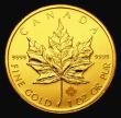 London Coins : A155 : Lot 2201 : Canada 50 Dollars 2013 with Maple Leaf security feature Gold One Ounce KM#1488 Lustrous UNC