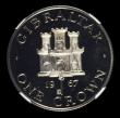 London Coins : A155 : Lot 2227 : Gibraltar Crown 1967 Silver Frosted Proof NGC PF66 Ultra Cameo. Although not stated on the holder, t...