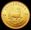 London Coins : A155 : Lot 2312 : South Africa Krugerrand 1974 Unc