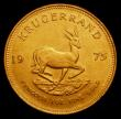 London Coins : A155 : Lot 2313 : South Africa Krugerrand 1975 toned EF