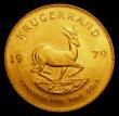 London Coins : A155 : Lot 2321 : South Africa Krugerrand 1979 GEF lightly toned