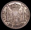 London Coins : A155 : Lot 2340 : Spain 20 Reales 1851 KM#593.2 Good Fine, toned