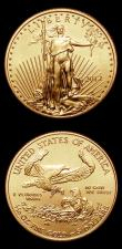 London Coins : A155 : Lot 2379 : USA Five Dollars 2012 One Tenth Ounce Gold (2) both Lustrous UNC