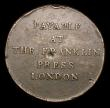 London Coins : A155 : Lot 2380 : USA Franklin Press Token 1794 Breen 1165 Fine with some light corrosion