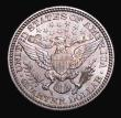 London Coins : A155 : Lot 2390 : USA Quarter Dollar 1902 Breen 4172 Choice UNC and beautifully toned