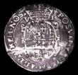 London Coins : A155 : Lot 540 : Sixpence Philip and Mary 1557 S.2506 mintmark Lis portraits around Fine and well defined, creased