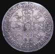 London Coins : A155 : Lot 554 : Crown 1675 5 over 3 VICESIMO SEPTIMO ESC 50A Fine, Very rare in any grade, rated R3 by ESC, our arch...