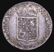 London Coins : A155 : Lot 595 : Halfcrown 1690 SECVNDO, as ESC 513 with second L in GVLIELMVS struck over another L, the underlying ...