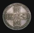 London Coins : A155 : Lot 612 : Halfcrown 1751 ESC 610 EF and attractively toned, with a small rim scratch by the A of A.T. Ex-Colin...