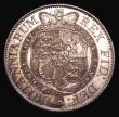 London Coins : A155 : Lot 615 : Halfcrown 1820 George III ESC 625 with some contact marks and light cabinet friction, otherwise Lust...