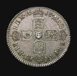 London Coins : A155 : Lot 663 : Sixpence 1688 Later shields, altered from Early shields ESC 1528 EF and with a most attractive grey ...