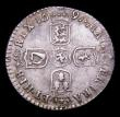 London Coins : A155 : Lot 669 : Sixpence 1697B First Bust, Later Harp, Small Crowns ESC 1155 NEF toned