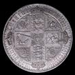 London Coins : A155 : Lot 724 : Crown 1847 Gothic ESC 288 UNDECIMO nEF with some bag marks and a dark grey tone