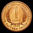London Coins : A156 : Lot 1179 : East Caribbean States - British Caribbean Territories One Cent 1958 VIP Proof/Proof of record KM#2 n...