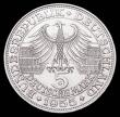 London Coins : A156 : Lot 1203 : Germany - Federal Republic 5 Marks Commemorative Coinage 1955 E Ludvig Von Baden KM#115 Unc