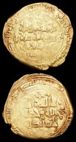 London Coins : A156 : Lot 1268 : Islamic Dirhams (2), gilded 4.5 grammes and 3,9 grammes respectively, VG to Near Fine with some worn...