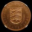 London Coins : A156 : Lot 1293 : Jersey 1/12th Shilling 1945 Liberation, Obverse George VI  VIP Proof/Proof or record KM#19, S.7019 i...