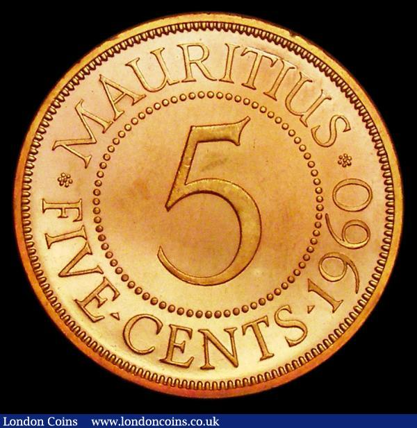 Mauritius 5 Cents 1960 VIP Proof/Proof or record KM#34 nFDC with some very light contact marks,  retaining almost full mint brilliance : World Coins : Auction 156 : Lot 1305
