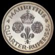 London Coins : A156 : Lot 1309 : Mauritius Quarter Rupee 1964 VIP Proof  KM#36 in a PCGS holder and graded PCGS PR66 CAM