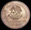 London Coins : A156 : Lot 1310 : Mexico 5 Pesos 1950 Opening of the Southern Railroad KM#466 Toned UNC with minor cabinet friction