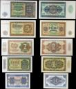 London Coins : A156 : Lot 151 : Germany Democratic Republic (9) a set of notes from 50 pfennig to 1000 Deutsche marks, Pick8 to Pick...