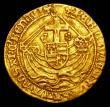 London Coins : A156 : Lot 1672 : Angel Edward IV struck on a small flan of correct weight S.1967 mintmark Cinquefoil Fine