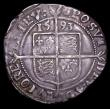 London Coins : A156 : Lot 1815 : Sixpence Elizabeth I 1593 Sixth Issue Bust 6C S.2578B mintmark Tun, Fine