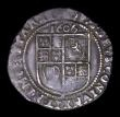 London Coins : A156 : Lot 1819 : Sixpence James I 1606 S.2658 weakness of strike in the mintmark area, so mintmark not clear, overall...
