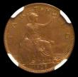 London Coins : A156 : Lot 1993 : Farthing 1928 VIP Proof/Proof of record Freeman 610 dies 3+B, listed at R18 by Freeman, in an NGC ho...