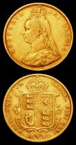 London Coins : A156 : Lot 2151 : Half Sovereigns (2) 1892 No JEB S.3869C Fine, 1894 Marsh 489 Good Fine with some surface marks and e...