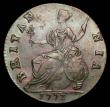 London Coins : A156 : Lot 2337 : Halfpenny 1773 Contemporary Counterfeit of excellent style Coleman CH1773B-14 EF nicely toned with r...