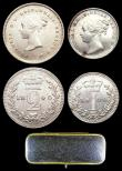 London Coins : A156 : Lot 2398 : Maundy Set 1840 ESC 2450 the Twopence with the 0 of the date widely spaced from the 4, EF to A/UNC, ...