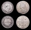 London Coins : A156 : Lot 2713 : Shillings (4) 1693 ESC 1076 About Fine/Fine, 1700 Fifth Bust, taller 0's in date ESC 1121 About...