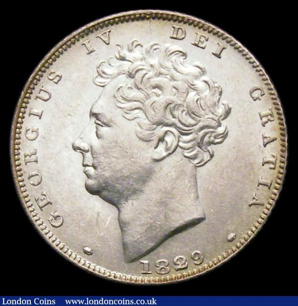Sixpence 1829 ESC 1666 UNC or near so and with some lustre : English Coins : Auction 156 : Lot 2790