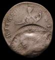London Coins : A156 : Lot 635 : Mint Error - Mis-Strike Halfpenny 1774 Contemporary Counterfeit on an oval-shaped flan, a spectacula...